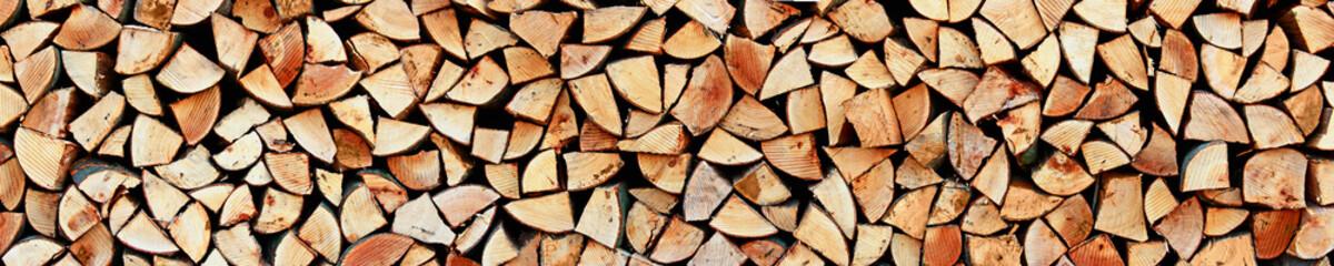 Poster de jardin Texture de bois de chauffage Holz