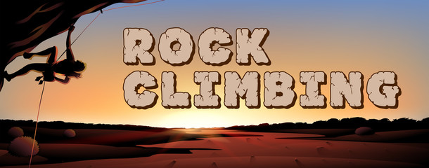 Font design for world rock climbing