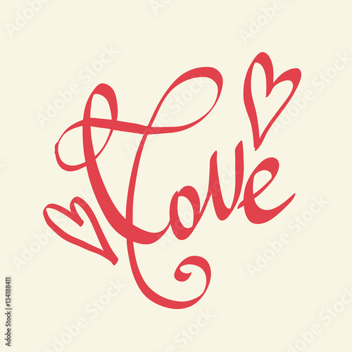 Love Lettering Vector Freehand Letters Valentine