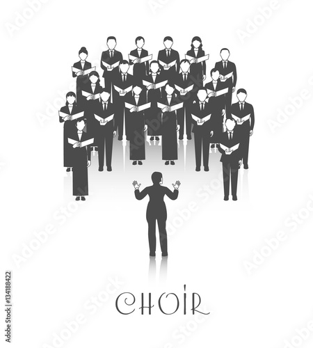 Choir Peroforrmance Black Image