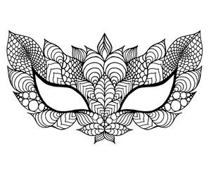 Mardi gras lace mask