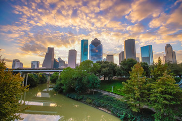 Wall Mural - Downtown Houston skyline