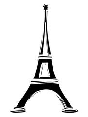 dessin tour Eiffel Paris France