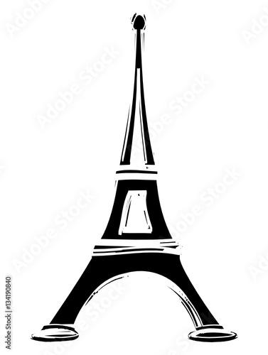 dessin tour eiffel paris france stock image and royalty. Black Bedroom Furniture Sets. Home Design Ideas