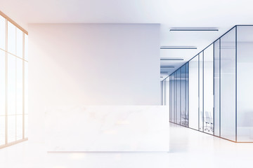 Office hall with marble reception