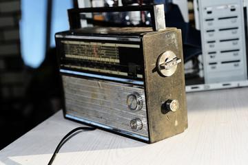 Photo of retro radio.