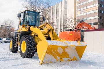 ホイールローダー / 北海道の除雪作業