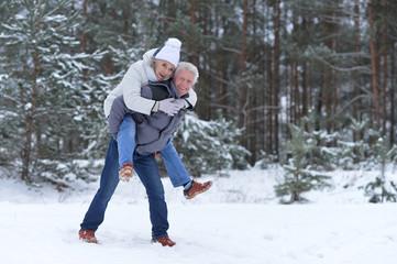 happy mature couple have fun