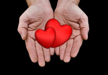 cœurs main saint-valentin