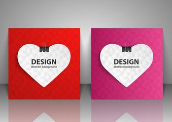 Set of backgrounds for Valentine Day. Vector illustration.
