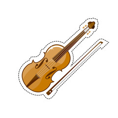 The violin is a wooden string instrument