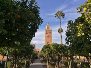 Koutubia mosque in marrakesh