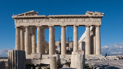 The Parthenon in the Acropolis of Athens, Attica, Greece