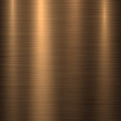 Fototapete - Bronze metal technology background with polished, brushed texture, chrome, silver, steel, aluminum, copper for design concepts, web, prints, posters, wallpapers, interfaces. Vector illustration.
