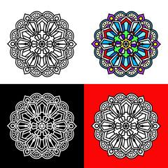 Set of mandala round ornament