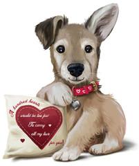100 hearts puppy