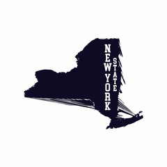 New York State map. Vector illustration