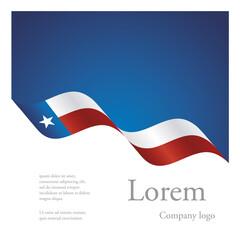 New brochure abstract design modular pattern of wavy flag ribbon of Texas