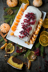 Tangerine cake with chocolate by New year