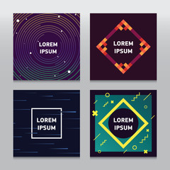 Set of trendy colorful backgrounds with geometric shapes and lines. Use for your cover, flyers, banners, poster, card,annual report, web and identity design.