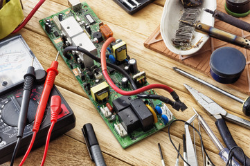 Tools for soldering electronic circuit boards.