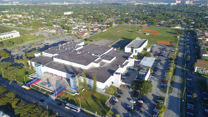 Aerial image of a highschool