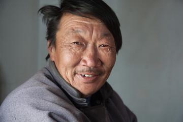 Portrait of a Mongolian man