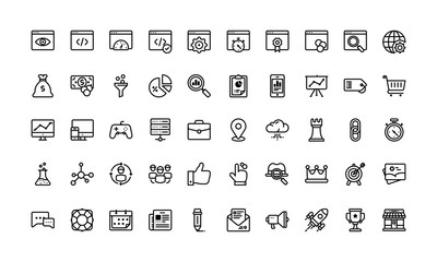 SEO and marketing icon set