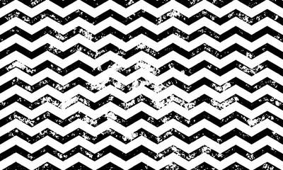 Zig zag vector grunge seamless pattern