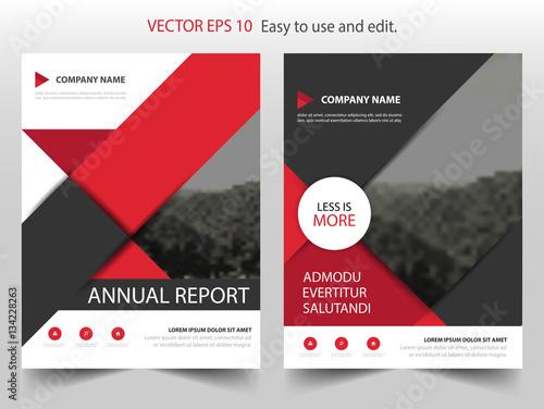 Red Black Circle Vector business proposal Leaflet Brochure Flyer – Red Flyer Template