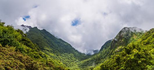 Beautiful landscape of mount Unzen in Kumamoto, Japan.
