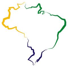 Brazylia - mapa