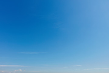 Empty blue sky background