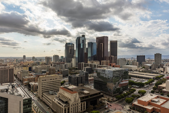 HDR skyline of downtown Los Angeles