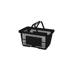 shopping basket. icon. vector illustration