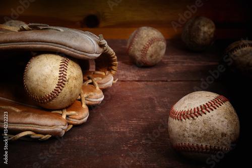 Vintage baseball background