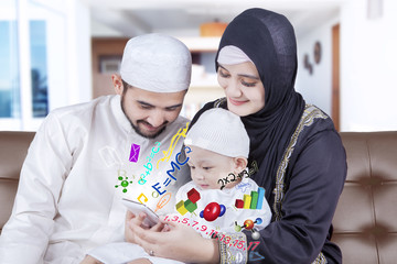 Arabian parents give education on smartphone