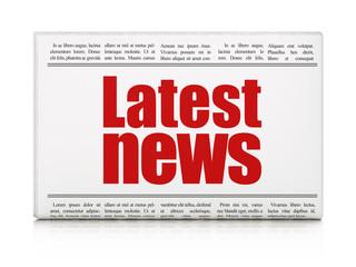 News concept: newspaper headline Latest News