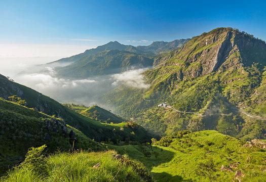 Sri Lanka landscapes nature background. Ella, Sri Lanka