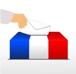 élection France urne tricolore