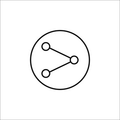 Share line icon, mobile sign and interface pictogram, vector graphics, a linear pattern on a white background, eps 10.