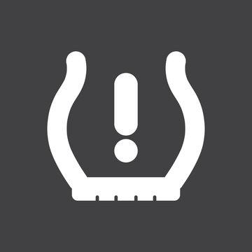 Low tire pressure warning indicator
