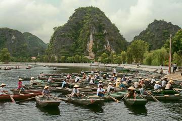 Trangan, Vietnam - August 04, 2010: Boating in Vietnam