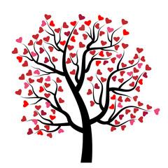 Valentine tree with heart