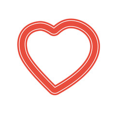 red heart valentine day icon. Stock vector illustration