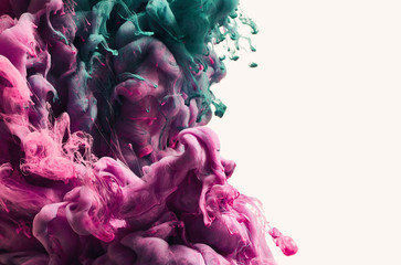 Abstract colorful paint splash