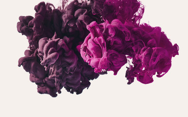 Purple ink splash. Abstract background