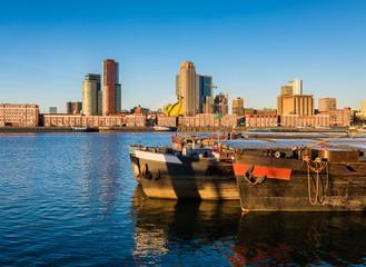 Maashaven and Kop van Zuid in Rotterdam, Netherlands.