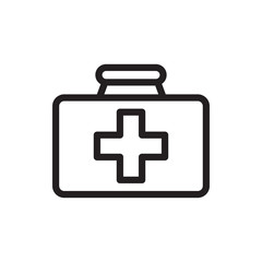 first aid kit icon illustration