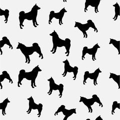 illustration of  black dogs silhouettes